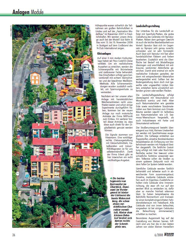 Bild 5 des Magazintextes mit freundlicher Genehmigung des N-Bahnmagazines.